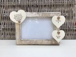 Shabby personalised Chic Photo Frame In Memory Of Sister ~ Loved One Or Any Name - 232993330644